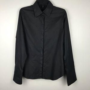 Pink Tartan Black Long Sleeve Button Up Shirt